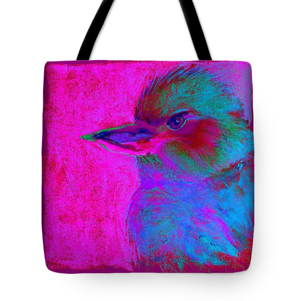 Funky Kookaburra Australian Bird Art Prints Tote Bag