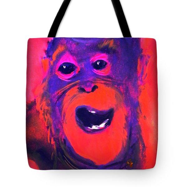 Funky Monkey Happy Chappy Tote Bag