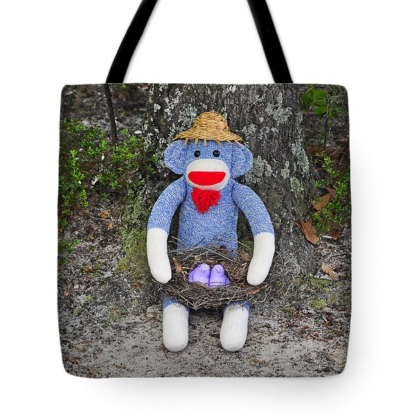 Funky Monkey - Purple Peeps Tote Bag by Al Powell Photography USA