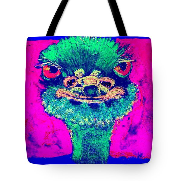 Funky Ostrich Cool Dude Art Prints Tote Bag