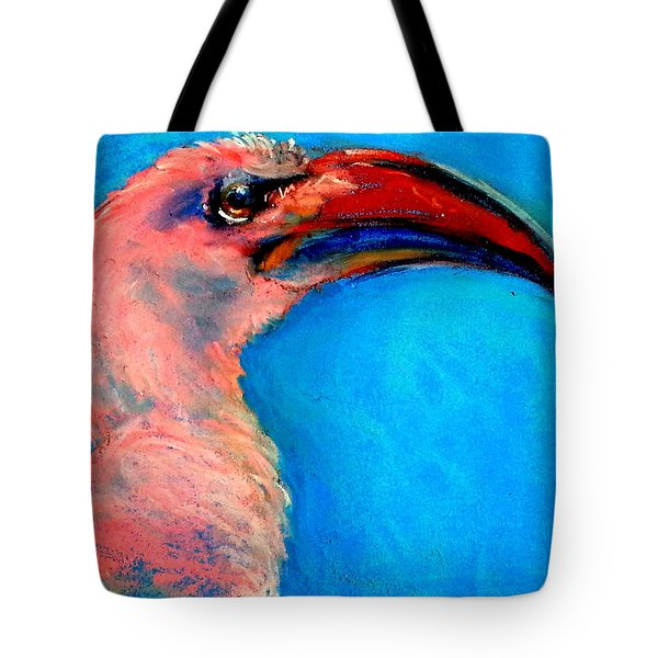 Funky Red-billed Hornbill Art Print Tote Bag