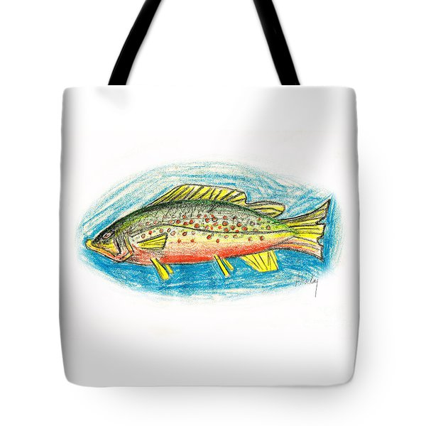 Funky Trout Tote Bag