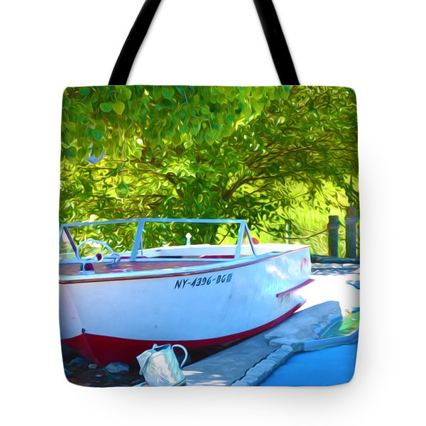 Funplex Funpark Boat 6 Tote Bag by Lanjee Chee