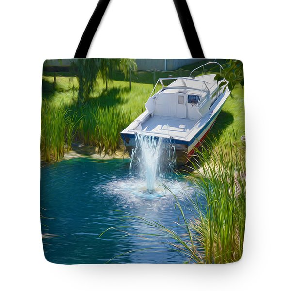 Funplex Funpark Boat 7 Tote Bag by Lanjee Chee