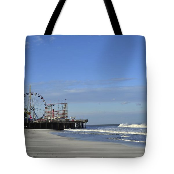 Funtown Pier Seaside Heights Nj Jersey Shore Tote Bag by Terry DeLuco