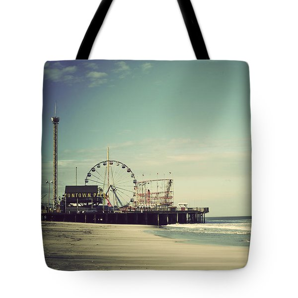 Funtown Pier Seaside Heights New Jersey Vintage Tote Bag