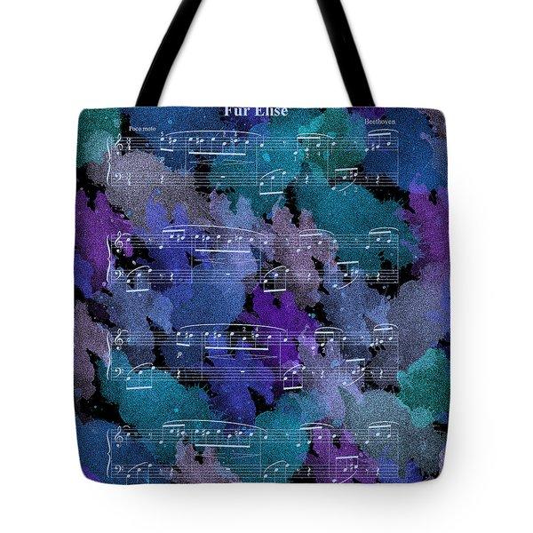 Fur Elise Music Digital Painting Tote Bag