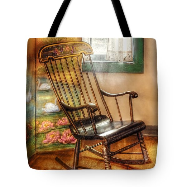 Furniture - Chair - The Rocking Chair Tote Bag by Mike Savad