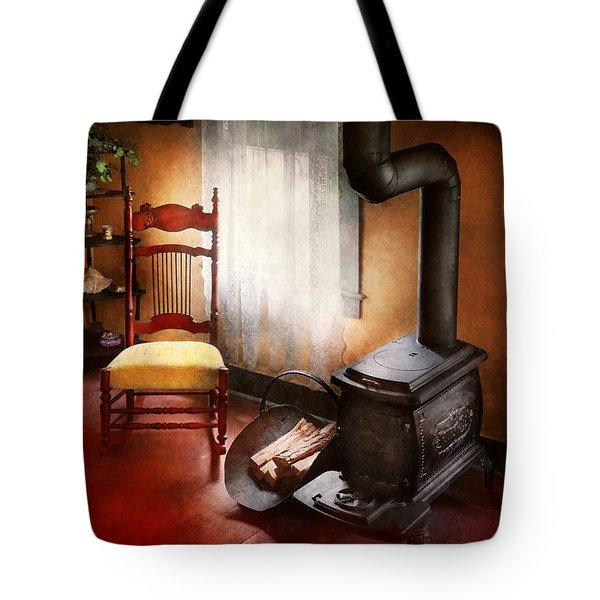 Furniture - Chair - Where She Spent Most Of Her Days Tote Bag by Mike Savad