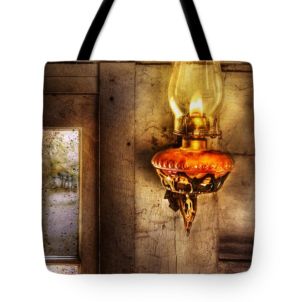 Furniture - Lamp - Kerosene Lamp Tote Bag by Mike Savad