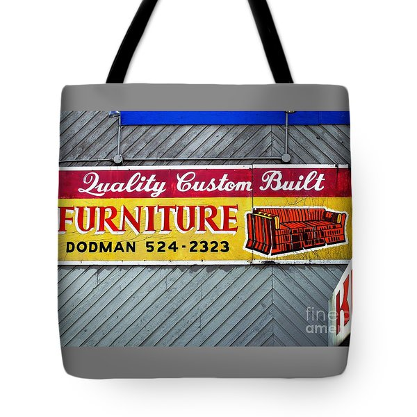 Furniture Sign Tote Bag