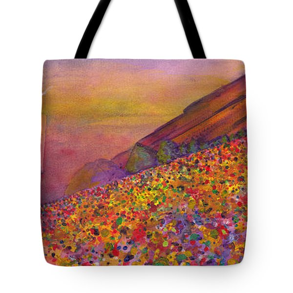 Furthur At Redrocks 2011 Tote Bag by David Sockrider