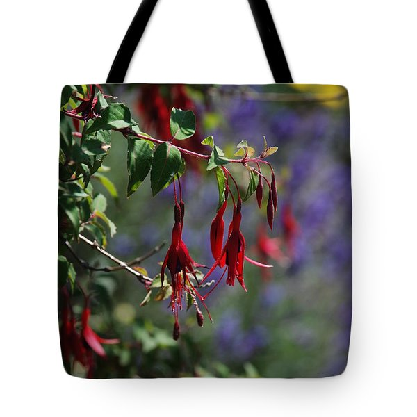 Fuschia Tote Bag by Carol  Eliassen