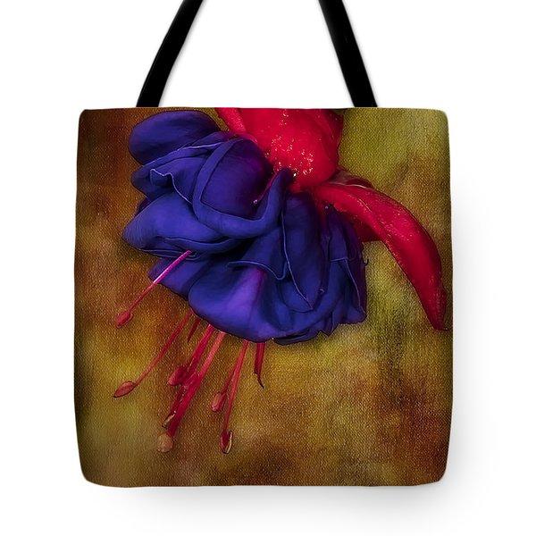 Fuschia Flower Tote Bag by Susan Candelario