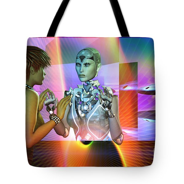 Futuristic Reality Tote Bag