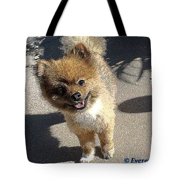 Fuzz Ball Tote Bag