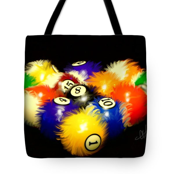 Fuzzy Billiards Tote Bag