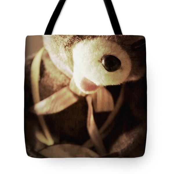 Fuzzy Drummer Tote Bag by Trish Mistric