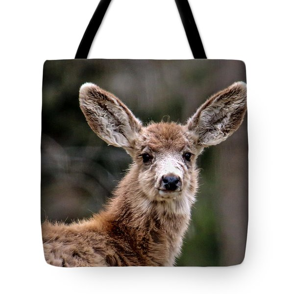 Fuzzy Fawn Tote Bag