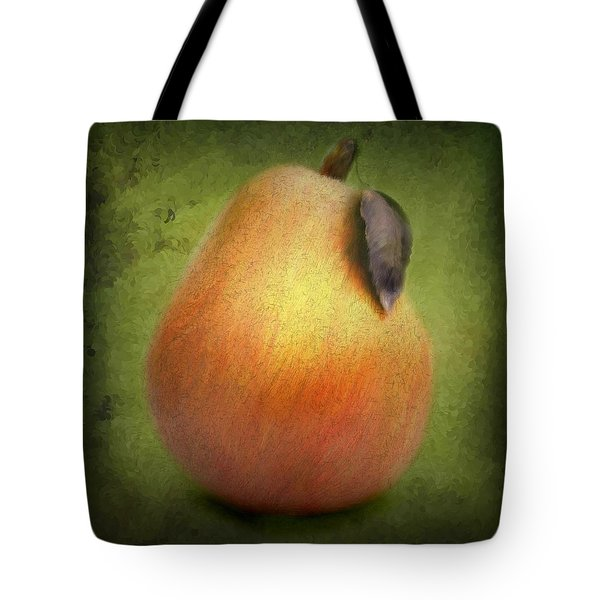 Fuzzy Pear Tote Bag by Nina Bradica