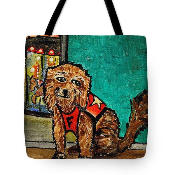 Fuzzy The Dog Tote Bag