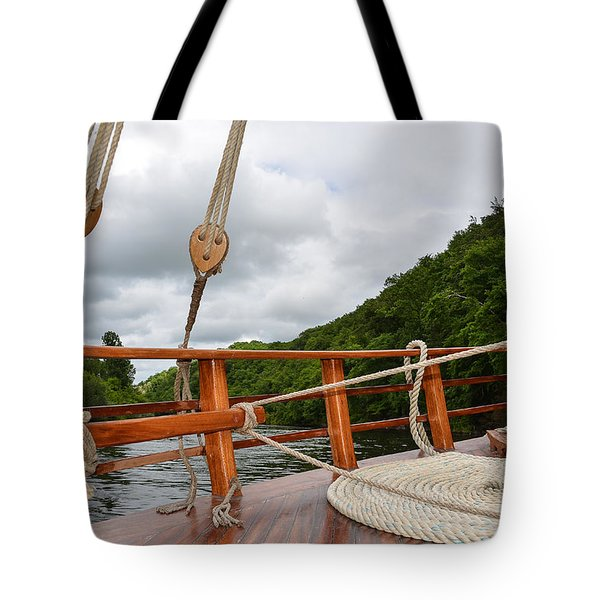Tote Bag featuring the photograph Boat Rope by Dany Lison