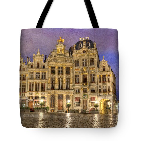 Gabled Buildings In Grand Place Tote Bag