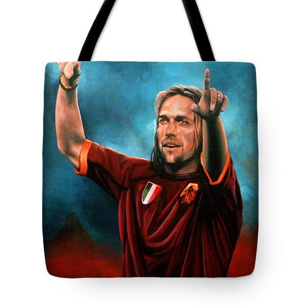 Gabriel Batistuta Tote Bag by Paul Meijering
