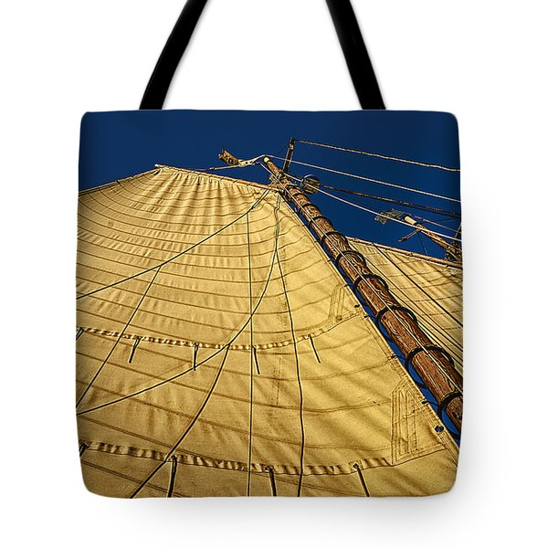 Gaff Rigged Mainsail Tote Bag