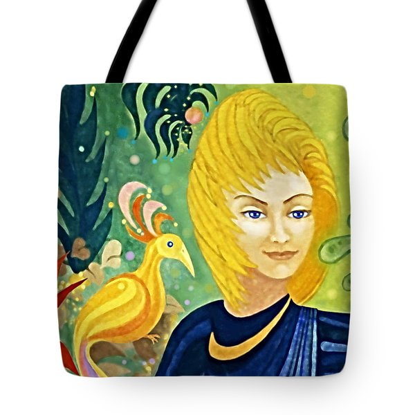 Tote Bag featuring the painting Gaia - Spirit Of Nature by Hartmut Jager