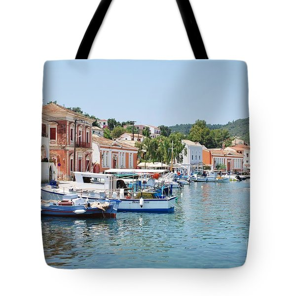 Gaios Harbour On Paxos Tote Bag