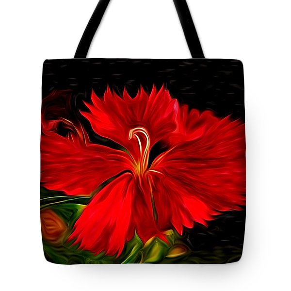 Galactic Dianthus Tote Bag by David Kehrli
