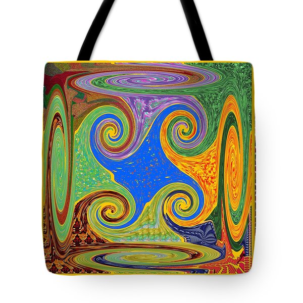 3d Twirl Galactic Invisible Teleport Station 2050 Alien Galaxy Communication Technology Startrack  Tote Bag