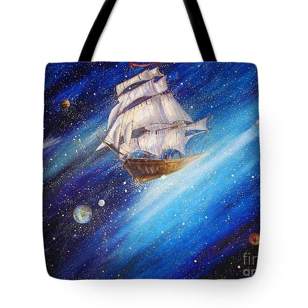 Galactic Traveler Tote Bag