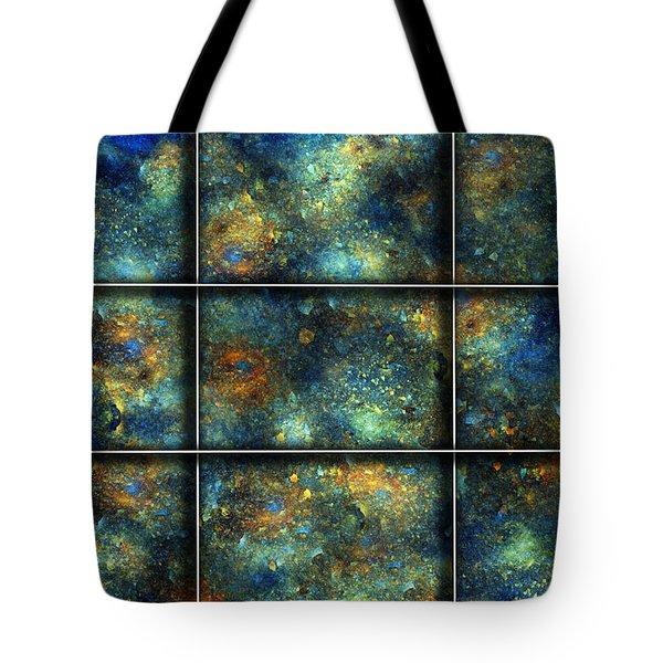 Galaxies II Tote Bag by Betsy Knapp