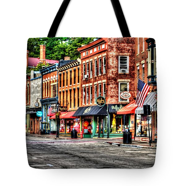 Galena Main Street Early Summer Morning Tote Bag