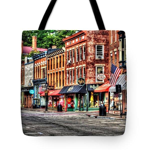Galena Main Street Early Summer Morning Tote Bag