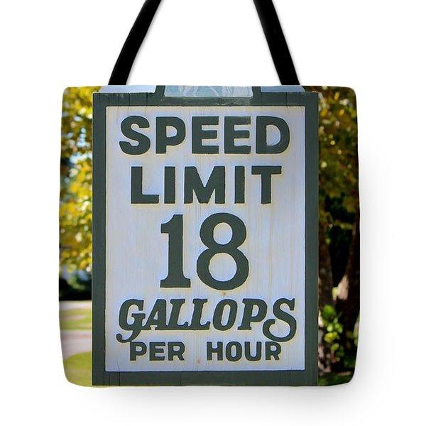 Gallops Per Hour Tote Bag by Cynthia Guinn
