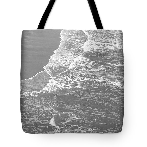 Galveston Tide In Grayscale Tote Bag