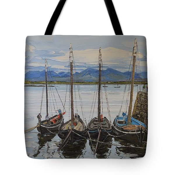 Galway Hookers Roundstone Connemara Ireland Tote Bag
