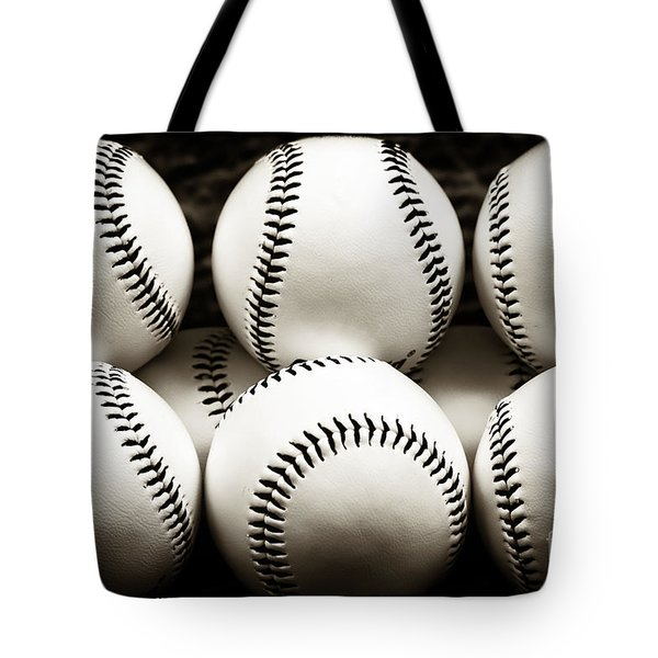 Tote Bag featuring the photograph Game Balls by John Rizzuto
