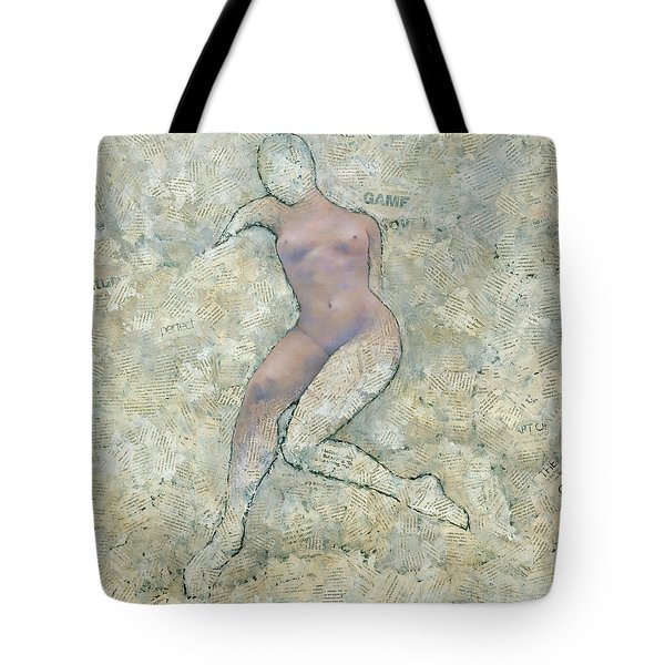 Tote Bag featuring the painting Game Over by Steve Mitchell