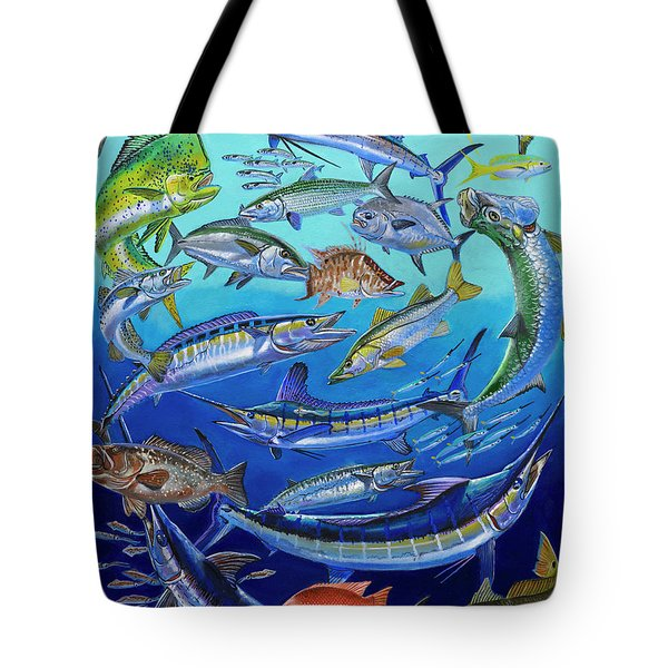 Gamefish Collage In0031 Tote Bag by Carey Chen