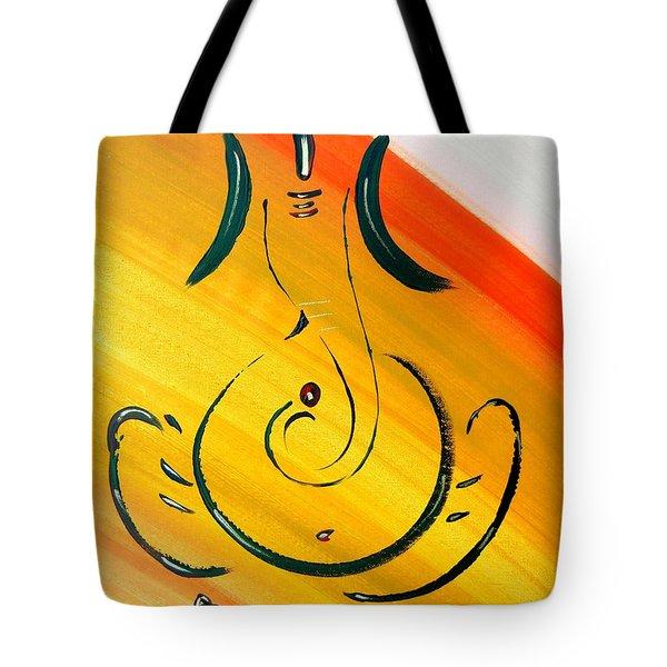 8 Ganesh Ekdhantaya Tote Bag by Kruti Shah