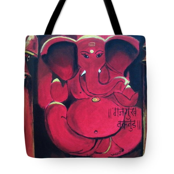 Ganesha Tote Bag by Anil Nene