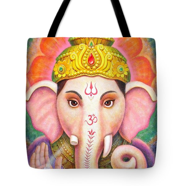 Tote Bag featuring the painting Ganesha's Blessing by Sue Halstenberg