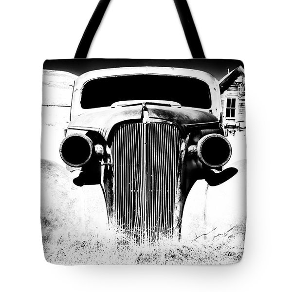 Gangster Car Tote Bag by Cat Connor