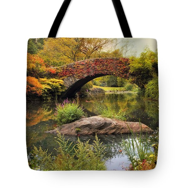 Tote Bag featuring the photograph Gapstow Bridge Serenity by Jessica Jenney