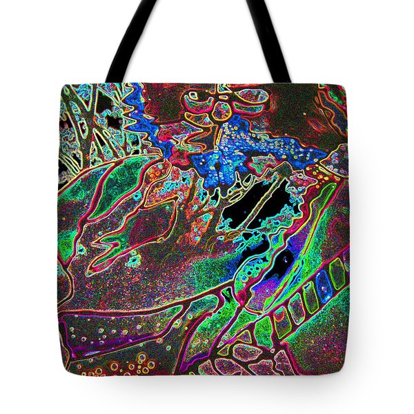 In And Out Of The Garden Stained Glass Tote Bag