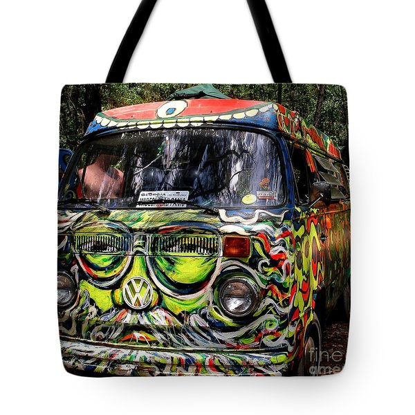 Garcia Vw Bus Tote Bag by Angela Murray